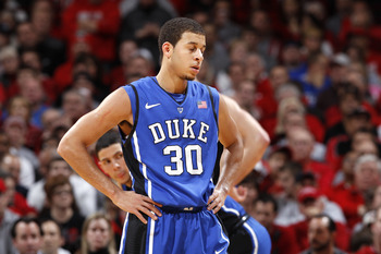 A dejected Seth Curry, Duke