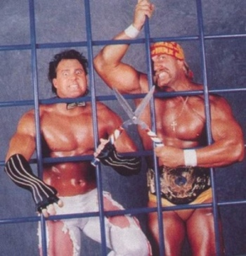 Wishbones weren't big enough for Beefcake and Hogan.
