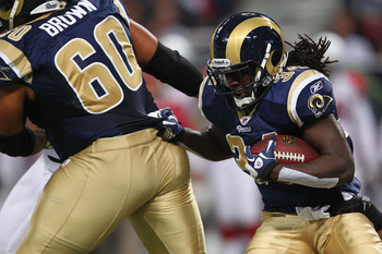 St. Louis center Jason Brown (60) has been anchoring an ailing offensive line.