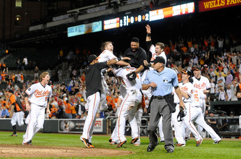 Orioles celebrate after knocking Red Sox out of playoffs