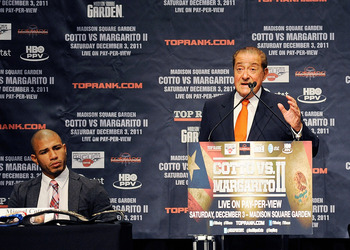Miguel Cotto and long-time promoter Bob Arum