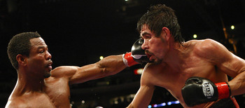 "Mosley goes ""pugilistic Picasso"" on Margarito's face."