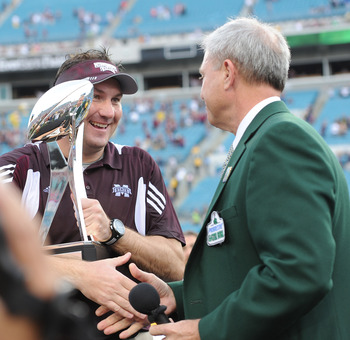 Mississippi State beat Michigan in last year's Gator Bowl.