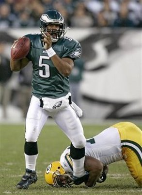 McNabb standing above the Packers