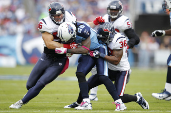 Chris Johnson was held to just 18 yards on 10 carries in Houston's week seven 41-7 rout of the Titans.