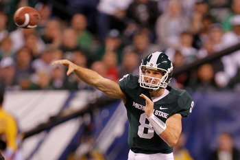 Michigan State QB Kirk Cousins in the Big Ten Championship Game against Wisconsin. The Spartans lost, 42-39.