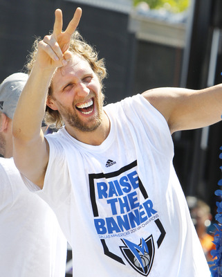 Will Dirk  be smiling all year about his new team?