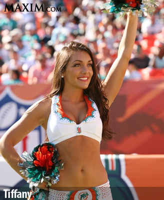 tiffany pearl dolphins cheerleader
