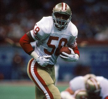 Keena Turner was a speedy outside linebacker who helped the 49ers to four Super Bowls in the 80's.