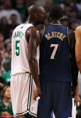 Kevin Garnett has always loved yapping at Wizards center/knucklehead Andray Blatche.
