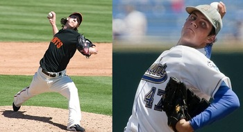 San Fran's Tim Lincecum and Arizona's Trevor Bauer share more similarities than just their awkward throwing motion.