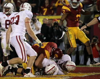 Tarpley's fumble recovery vs. USC
