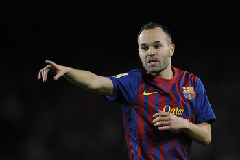 Andres Iniesta was Barcelona's key man in the second half.