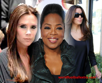 Twitter connections: Victoria Beckham, Oprah Winfrey and Eva Longoria...