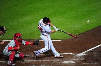 Dan Uggla set a new career high in homers in his first year in Atlanta.