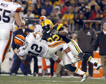 James Harrison levels Colt McCoy