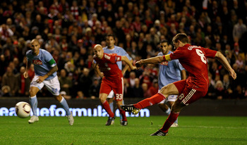 Gerrard unleashes another trademark strike