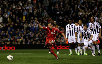 Charlie Adam puts away a penalty against Fulham