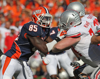 The Illinois defense is led by Whitney Mercilus