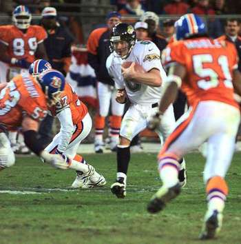 Mark Brunell eluded Denver's D all afternoon.