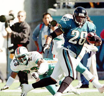 Fred Taylor ran away from every Dolphin sight.