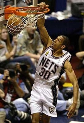 Despite chroinc knee injuries Kittles was a key player for the New Jersey Nets.