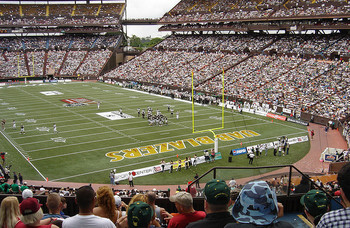 Aloha Stadium: Site of the Aloha Bowl, the Oahu Bowl, and the Hawaii Bowl.