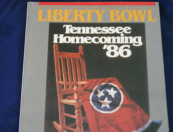 Official game program for the 1986 Liberty Bowl.