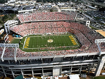 The Florida Citrus Bowl (formerly the Tangerine Bowl) in Orlando.