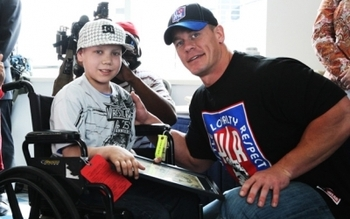 Cena is a Wish Ambassador for the Make-A-Wish Foundation