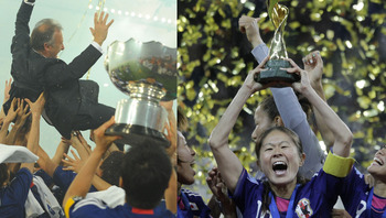It was a banner year for Japan's national football teamsmen AND women.