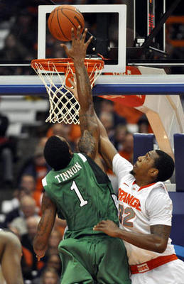 Tinnon showed Syracuse that he is tough as nails.