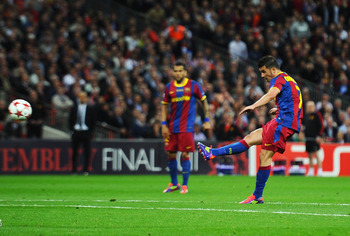 Villa scored a stunner to seal the Champions League final against Man United