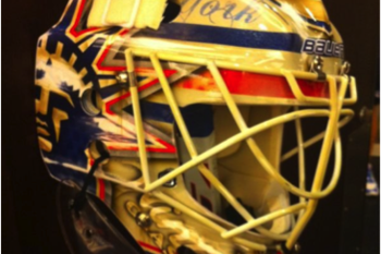 Henrik Lundqvist's Winter Classic Mask Incorporates Images from the Rangers' Past and Present