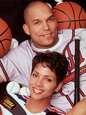 David Justice and Halle Berry during the slugger's time as a young star in Atlanta.