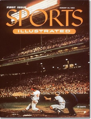 Eddie Mathews on the cover of the first issue of Sports Illustrated.