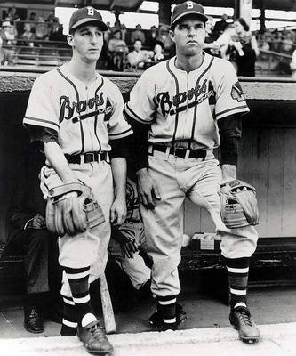 Warren Spahn and Johnny Sain together.