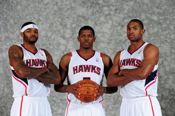 Josh Smith, Joe Johnson and Al Horford