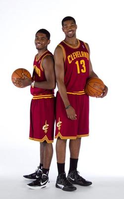 Kyrie Irving and Tristan Thompson