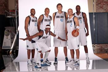 Vince Carter, Jason Terry, Shawn Marion, Dirk Nowitzki, Jason Kidd and Lamar Odom