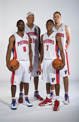 Ben Gordon, Charlie Villanueva, Brandon Knight and Tayshaun Prince