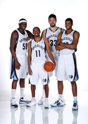 Zach Randolph, Mike Conley, Marc Gasol and Rudy Gay
