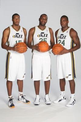 Derrick Favors, Al Jefferson and Paul Millsap