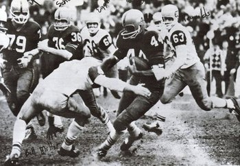 Heisman-winner Ernie Davis (No. 44) led Syracuse's comeback win.