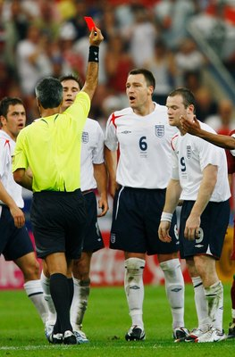 John Terry, Sent off while on duty with England.