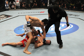 Chan Sung Jung finishes Mark Hominick - Nick Laham/Zuffa, LLC