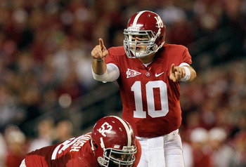 In this game, A.J. McCarron will be to be able to see everything and miss nothing.