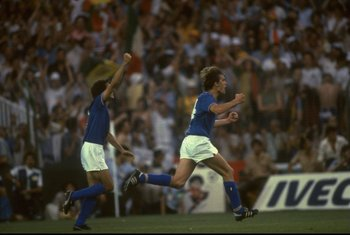 Tardelli Celebrates after scoring the second in the final