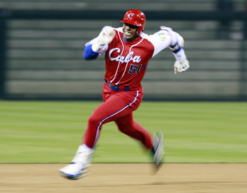 Yoennis Cespedes can fly, but where will he eventually land?
