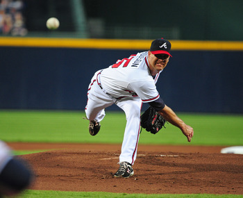 The veteran leader of the Braves' young rotation, Tim Hudson is used to pitching in tough situations.